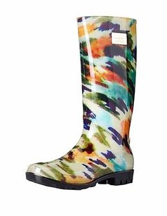 Nicole Miller Rainyday Abstract Print Multi-Color Boots
