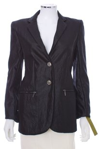 Nicole Miller Nylon Shiny Black Sheen Blazer