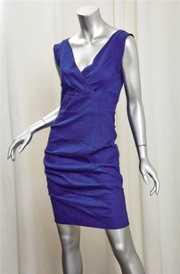Nicole Miller Womens Blue Dress