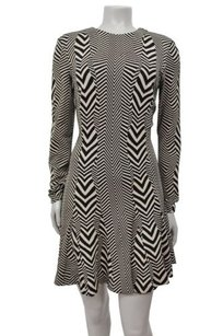 Nicole Miller Artelier Amber Warped Herringbone Dress