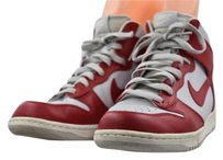 Nike Womens High Top Red Flats