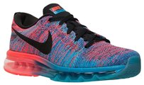 Nike Running Nike Flyknit Air Max 2014 BRAND NEW - Blue Lagoon/Crimson Red - Women's Size 7 Athletic