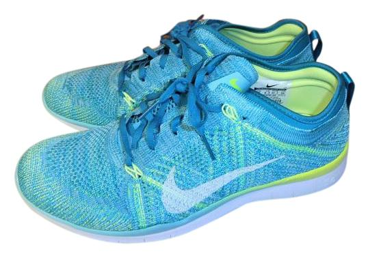 Nike Turquoise Women's Free 5.0 Tr Flyknit Women's Turquoise Training Sneakers Size US 9 Regular (M, B) 23a3d3