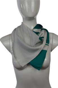 Nina Ricci Nina Ricci Womens Green Printed Scarf One Casual Silk Blend