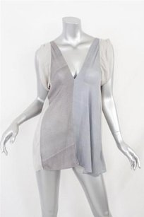 Nina Ricci short dress Grays Womens Deep Sleeveless Flowy Blouse Tunic Mini on Tradesy