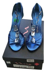 Nina Shoes True Blue Metal Sandals