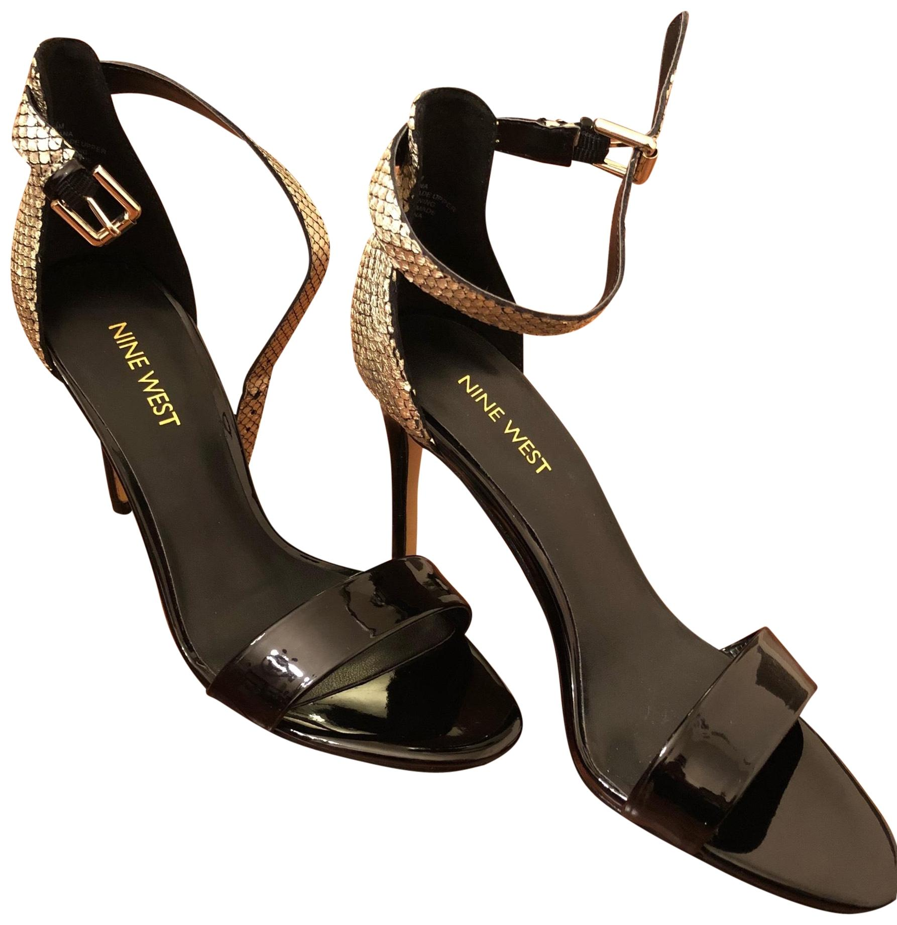 Nine West Black with Gold 25017278-2jq Nwmana Formal Shoes Size US 6.5 Regular (M, B)