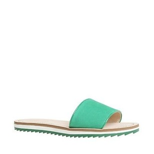 Nine West Sundance green natural Flats