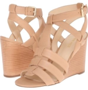 Nine West Leather Nude Wedges