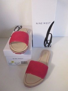 Nine West Sundance Leather Pink pink natural Flats