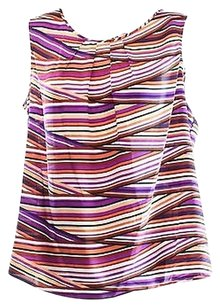 Nine West Purple Striped Top Purples