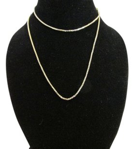 18K White Gold Over Sterling Silver Box Chain 18 Inches