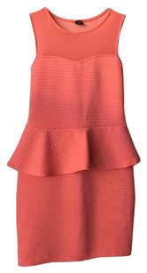 Nordstrom Peplum Peach Dress