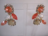 Nordstrom Nordstrom Missing Pieces Peach Cabochon Cluster Earrings