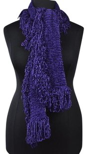 Nordstrom Nordstrom Womens Purple Os Scarf Textured Casual Fringed