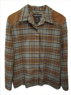 Norton McNaughton Flannel Color-blocking Button Down Shirt Plaid