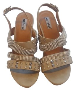 Not Rated Sand/Rhinestones Wedges