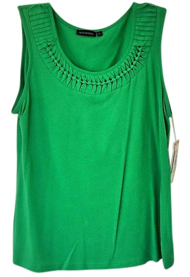 notations green tank top  cami size 12  l