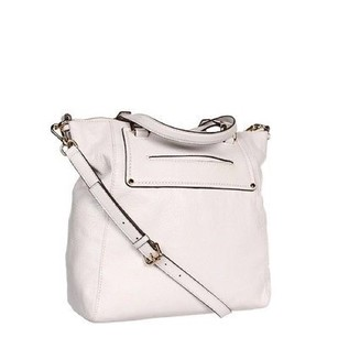 NWT MICHAEL KORS Pebbled Leather Gilmore Large Tote VANILLA Off White Gold Tote