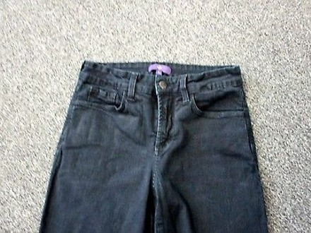 new NYDJ Not Your Daughters Jeans Black Solid Pocket Boot Cut Jeans Sma 4786