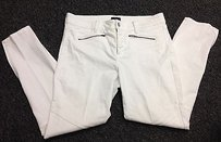 NYDJ Not Your Daughters White Cotton Slim Leg Ankle Zip Sma 7443 Skinny Jeans