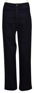 NYDJ Womens Blue Dark Wash 14p Petite Cotton Pants Trousers Straight Leg Jeans