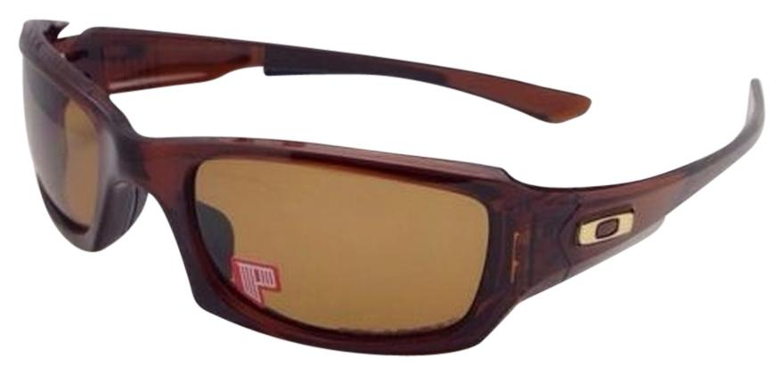 oakley polarized fives squared sunglasses - rootbeer/bronze