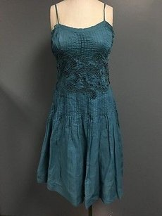 Odille short dress Blue Cotton Pleated on Tradesy