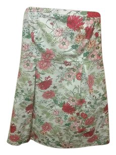 Old Navy short dress White and Pink Floral on Tradesy