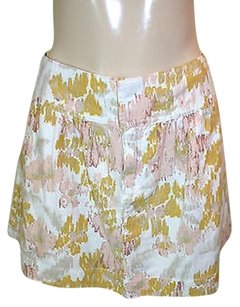 Old Navy White Pink Yellow Mini Skirt Multi-Color