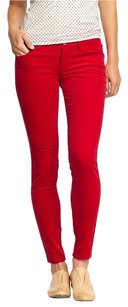 Old Navy Rockstar Corduroy Skinny Pants Red