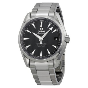 Omega Aqua Terra Black Dial Stainless Steel Men's Watch 23110392101002