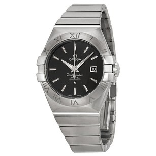 Omega Constellation Black Dial Stainless Steel Diamond Ladies Watch