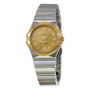 Omega Constellation Champagne Dial Yellow Gold Ladies Watch