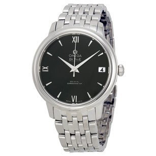 Omega De Ville Prestige Automatic Black Dial Stainless Steel Ladies Watch