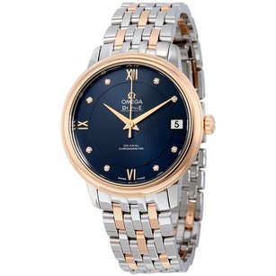 Omega De Ville Prestige Automatic Blue Dial Stainless Steel Ladies Watch