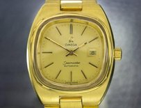 Omega Ladies Swiss Vintage Omega Seamaster Gold-plated Automatic Dress Watch 6559