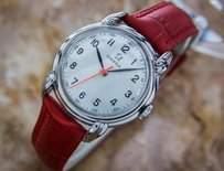 Omega Mens Mid Swiss Omega 1940s Calibre R17.8sc Manual Ss Vintage Watch Eb138