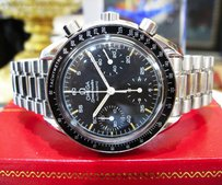 Omega Mens Omega Speedmaster Automatic Chronograph Stainless Steel Watch