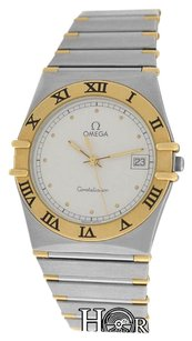 Omega Unisex Omega Constellation SS 18K Yellow Gold Date 33MM Quartz Watch
