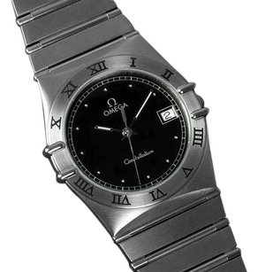 Omega Omega Constellation 35mm Mens Bracelet Watch, Quartz, Date, Black Dial