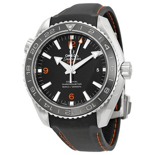 Omega Planet Ocean GMT Black Dial Rubber Strap Men's Watch 23232442201002