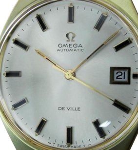 Omega Vintage Omega De Ville Gold Plated Automatic Silver Dial Mens Dress Watch Rx330