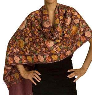 Orchha Shawl Hand Crafted cashemere With Embroidery.
