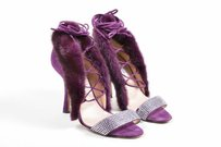 Oscar de la Renta Purple Sandals