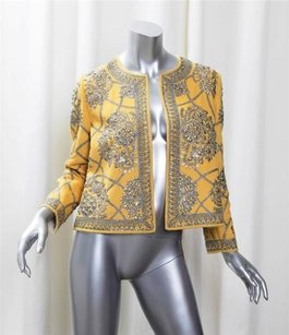 Oscar de la Renta Womens Yellow Jacket
