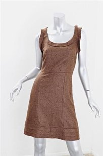 Oscar de la Renta Womens Wool Silk Sleeveless Sheath Mini Dress