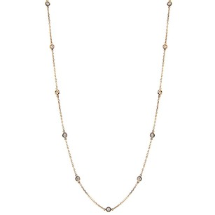 Other 0.80ct Diamond 14k Yellow Gold Necklace 18