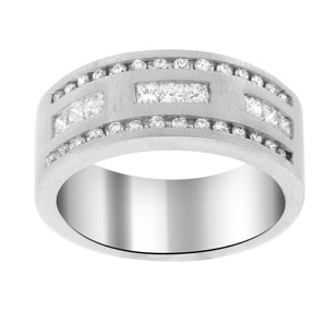 Other 1.00ct Diamond 14k White Gold Mens Band