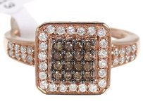 10k Ladies Rose Gold Brown Round Diamond Fashion Wedding Engagement Ring 0.55ct